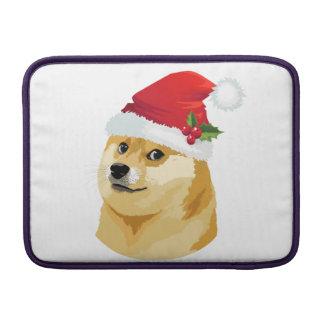 Bolsa De MacBook Doge do Natal - doge do papai noel - cão do Natal