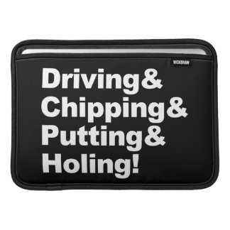 Bolsa De MacBook Driving&Chipping&Putting&Holing (branco)