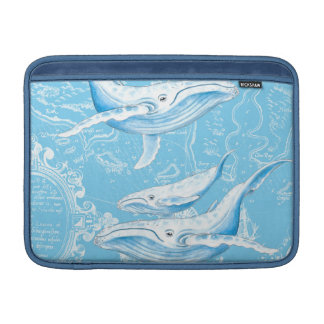 Bolsa De MacBook Família das baleias azuis