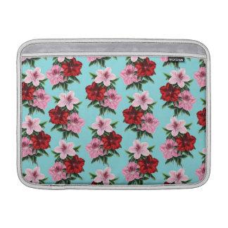 Bolsa De MacBook flores rosas vermelha na luz da cerceta