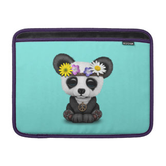 Bolsa De MacBook Hippie bonito da panda do bebê