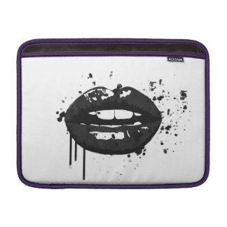 Bolsa De MacBook Maquilhador à moda do beijo da forma dos lábios