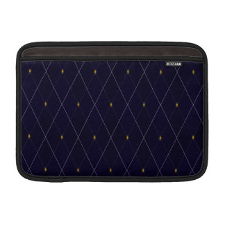 Bolsa De MacBook Marinho brilhante Argyle do diamante