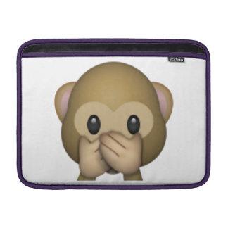 Bolsa De MacBook Não fale nenhum macaco mau - Emoji