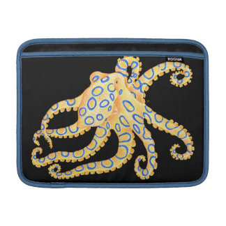 Bolsa De MacBook Polvo azul do anel no preto