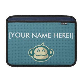 Bolsa De MacBook Pontos do azul do bigode do macaco