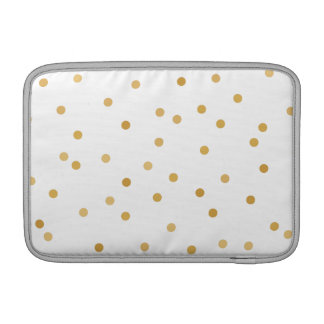 Bolsa De MacBook Pontos modernos elegantes dos confetes do ouro