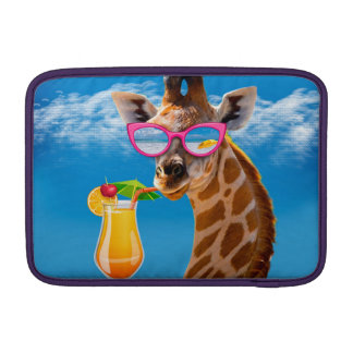 Bolsa De MacBook Praia do girafa - girafa engraçado