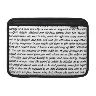 Bolsa De MacBook Texto do orgulho e do preconceito
