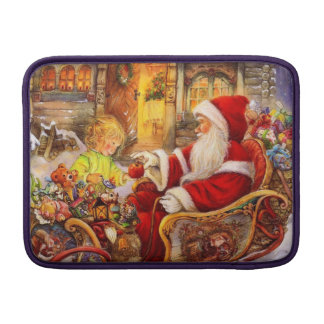 Bolsa De MacBook Trenó do papai noel - ilustração de Papai Noel