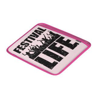 Bolsa De MacBook VIDA nova do FESTIVAL (preto)