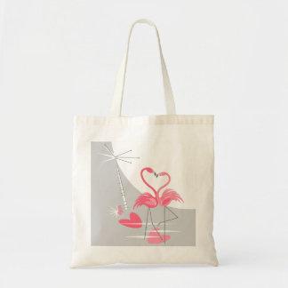 Bolsa do orçamento da lua do amor do flamingo o