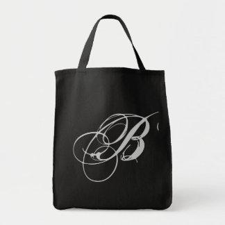 Bolsa elaborada do monograma B
