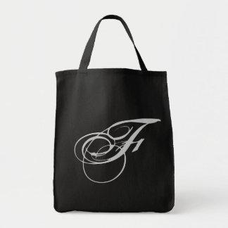 Bolsa elaborada do monograma F