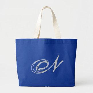 Bolsa elaborada do monograma N