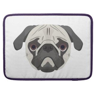 Bolsa MacBook Pro A ilustração persegue o Pug da cara