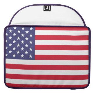 Bolsa MacBook Pro Bandeira nacional dos Estados Unidos da América