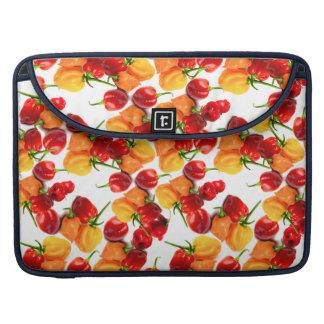 Bolsa MacBook Pro Comida quente alaranjada das pimentas vermelhas