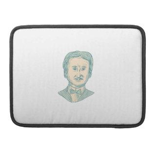 Bolsa MacBook Pro Desenho do escritor de Edgar Allan Poe