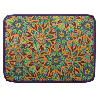 Bolsa MacBook Pro Design floral do teste padrão do abstrato da