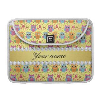 Bolsa MacBook Pro Diamantes coloridos de Bling da folha de ouro do