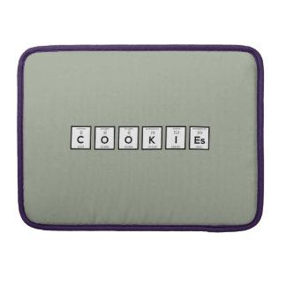 Bolsa MacBook Pro Elemento químico Z57c7 dos biscoitos