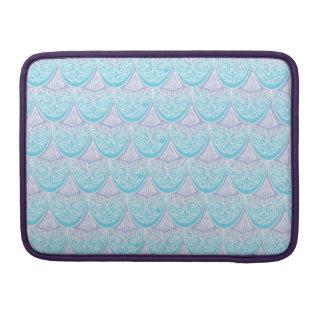 Bolsa MacBook Pro Escalas cor-de-rosa da sereia, boho, hippie,