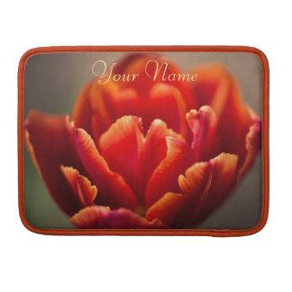 Bolsa MacBook Pro Foto vermelha bonito das pétalas da tulipa.