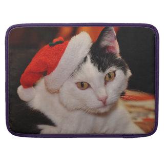 Bolsa MacBook Pro Gato de Papai Noel - Feliz Natal - gato do animal