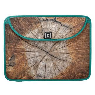 Bolsa MacBook Pro Grão de madeira, pavão