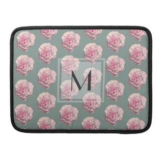 Bolsa MacBook Pro Ilustração Monogrammed da aguarela do rosa do rosa