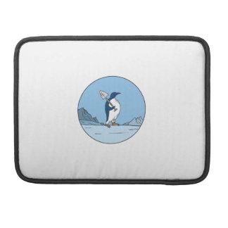 Bolsa MacBook Pro Linha do círculo de Antartica da pá do pinguim de