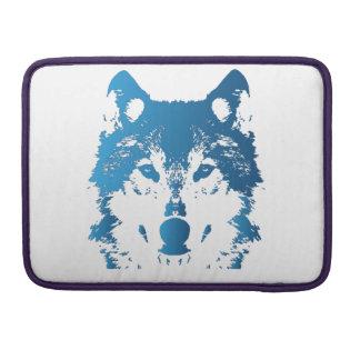 Bolsa MacBook Pro Lobo do azul de gelo da ilustração