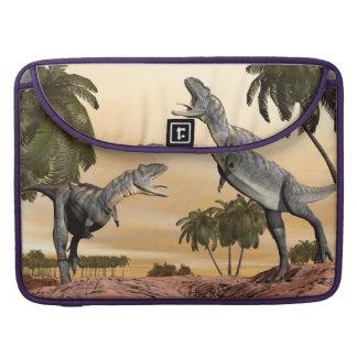 Bolsa MacBook Pro Luta dos dinossauros do Aucasaurus - 3D rendem