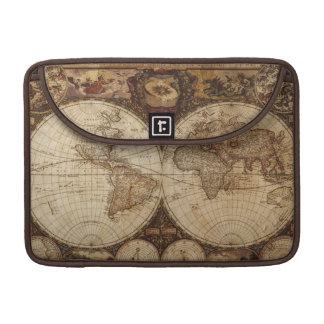 Bolsa MacBook Pro Mapa do vintage