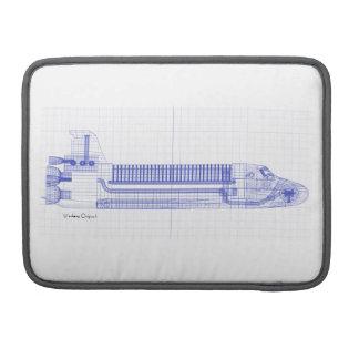 Bolsa MacBook Pro Modelos do vaivém espacial