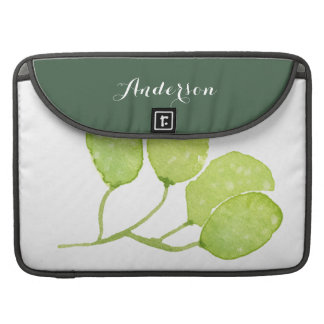 BOLSA MacBook PRO MONOGRAMA VERDE TROPICAL DA FOLHA DA FOLHA DO