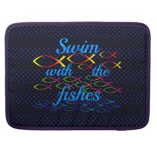 Bolsa MacBook Pro Natação com os peixes