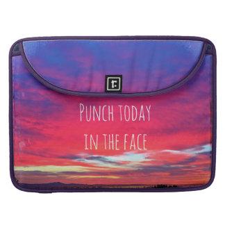 """Bolsa MacBook Pro O """"perfurador hoje"""" cita a foto do nascer do sol"""