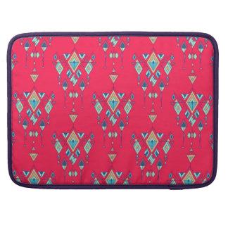 Bolsa MacBook Pro Ornamento asteca tribal étnico do vintage