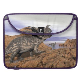 Bolsa MacBook Pro Paisagem dos dinossauros - 3D rendem