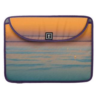 Bolsa MacBook Pro Por do sol sobre o lago Balaton, Hungria