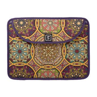 Bolsa MacBook Pro Retalhos do vintage com elementos florais da