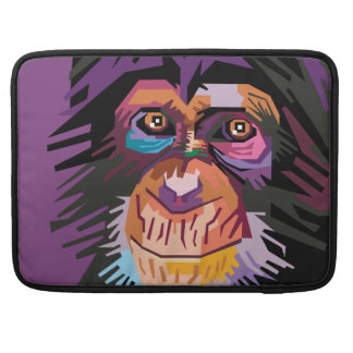 Bolsa MacBook Pro Retrato colorido do macaco do pop art