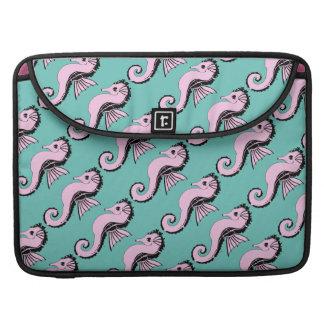 Bolsa MacBook Pro rosa do cavalo marinho