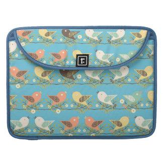 Bolsa MacBook Pro Teste padrão Assorted dos pássaros