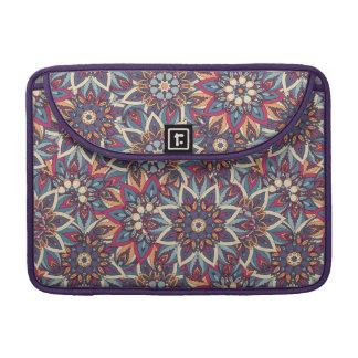Bolsa MacBook Pro Teste padrão floral étnico abstrato colorido da