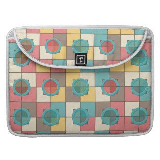 Bolsa MacBook Pro Teste padrão geométrico colorido