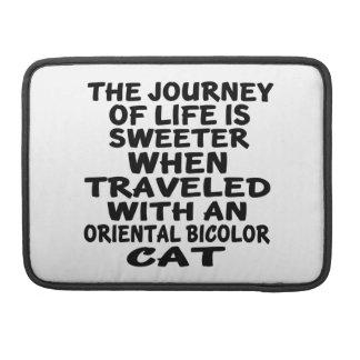 Bolsa MacBook Pro Viajado com o gato bicolor oriental