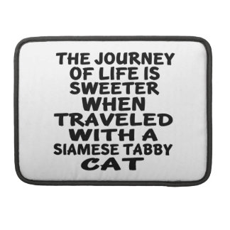 Bolsa MacBook Pro Viajado com o gato de gato malhado Siamese